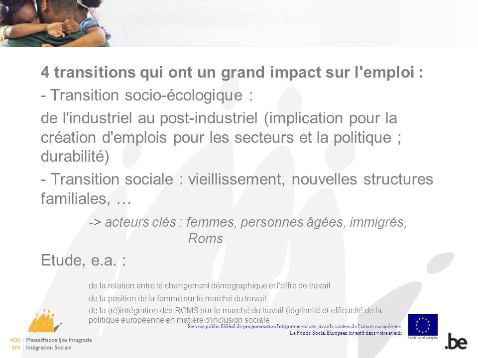 4 transitions qui ont un grand impact sur l emploi :