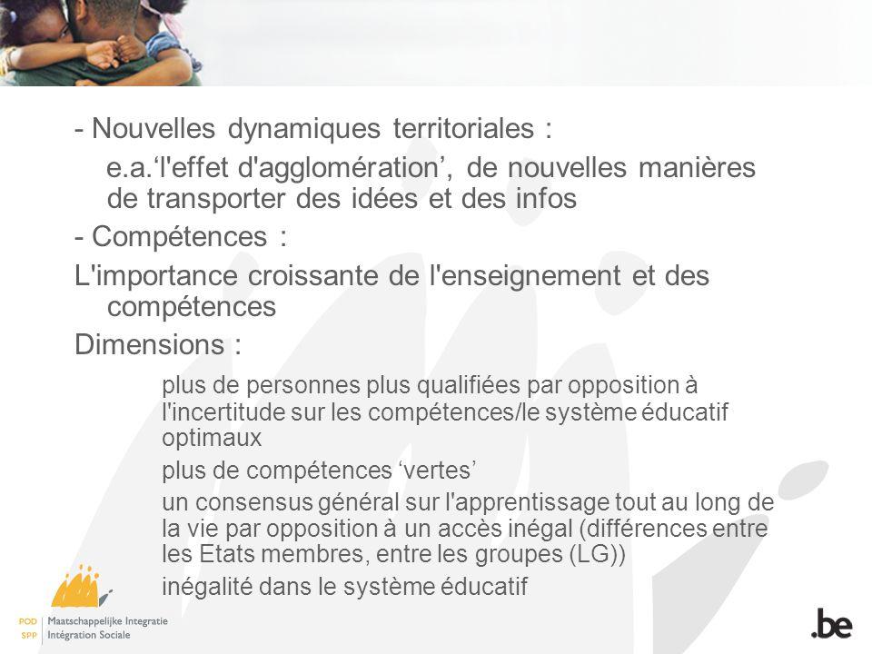 - Nouvelles dynamiques territoriales :