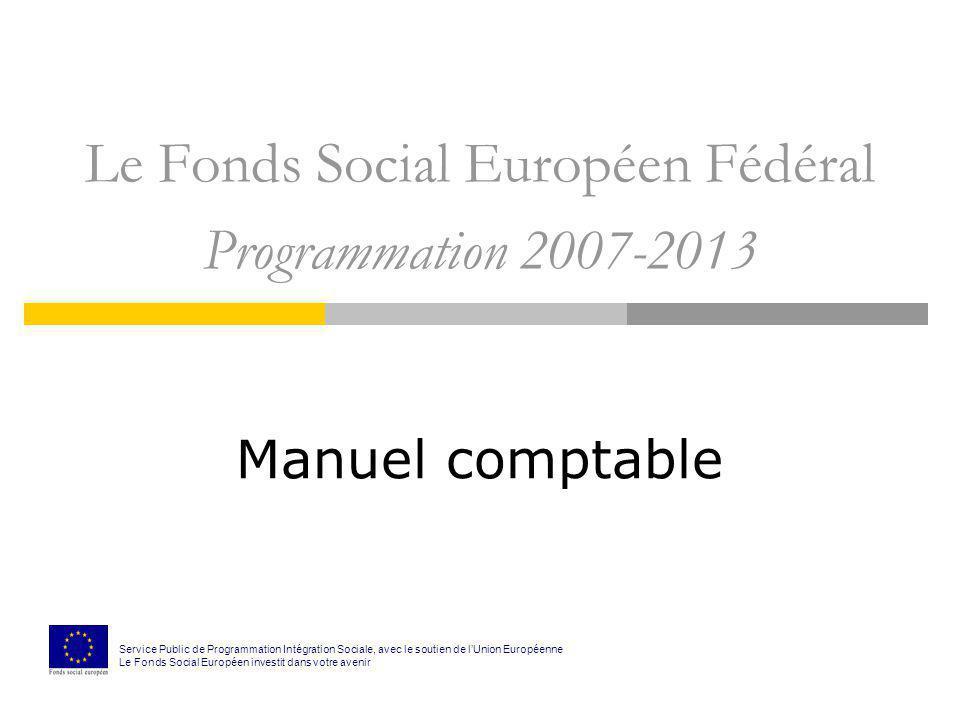Le Fonds Social Européen Fédéral Programmation 2007-2013