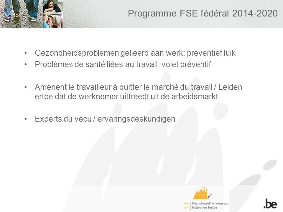 Programme FSE fédéral 2014-2020