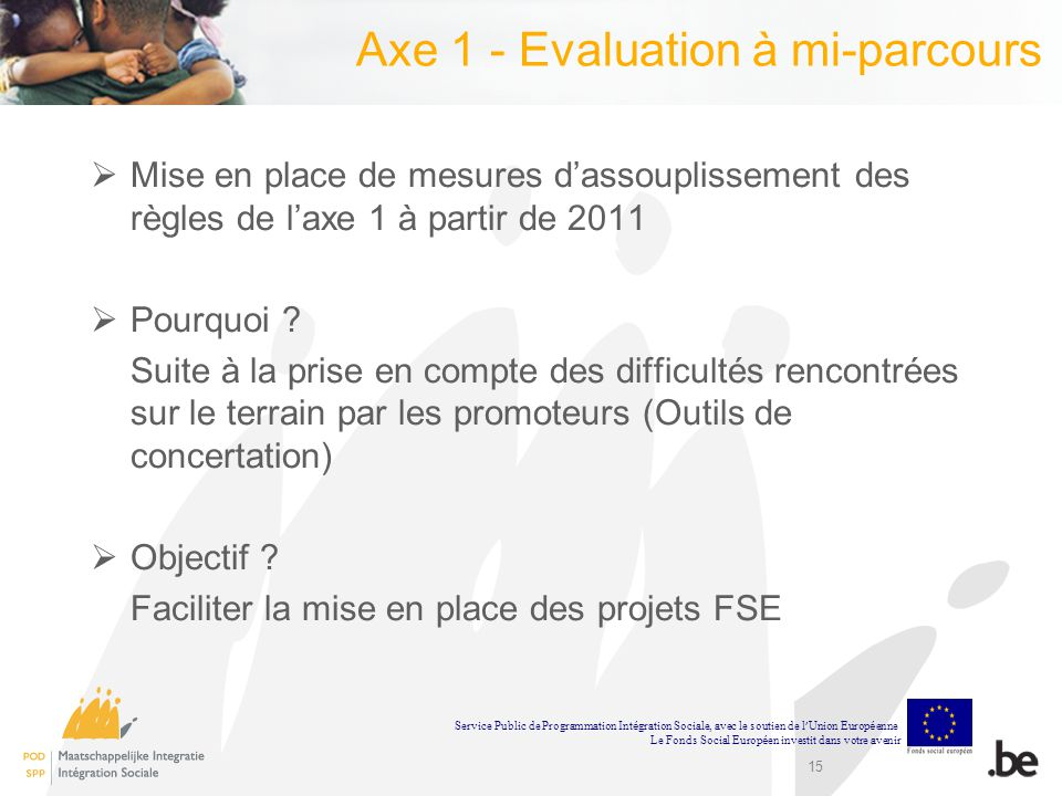 Axe 1 - Evaluation à mi-parcours