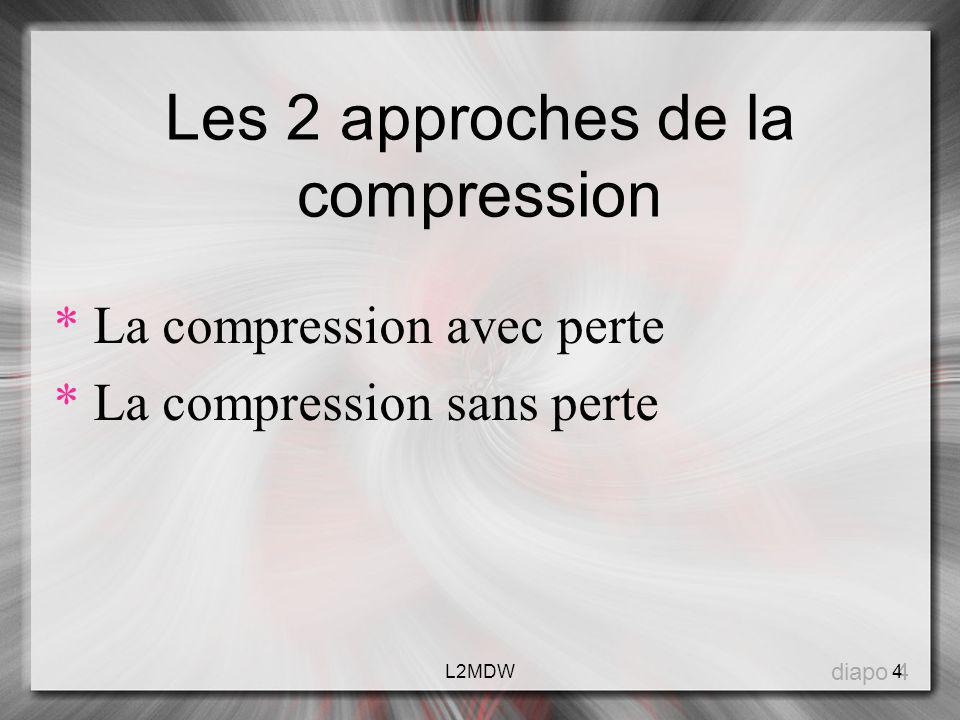 Les 2 approches de la compression