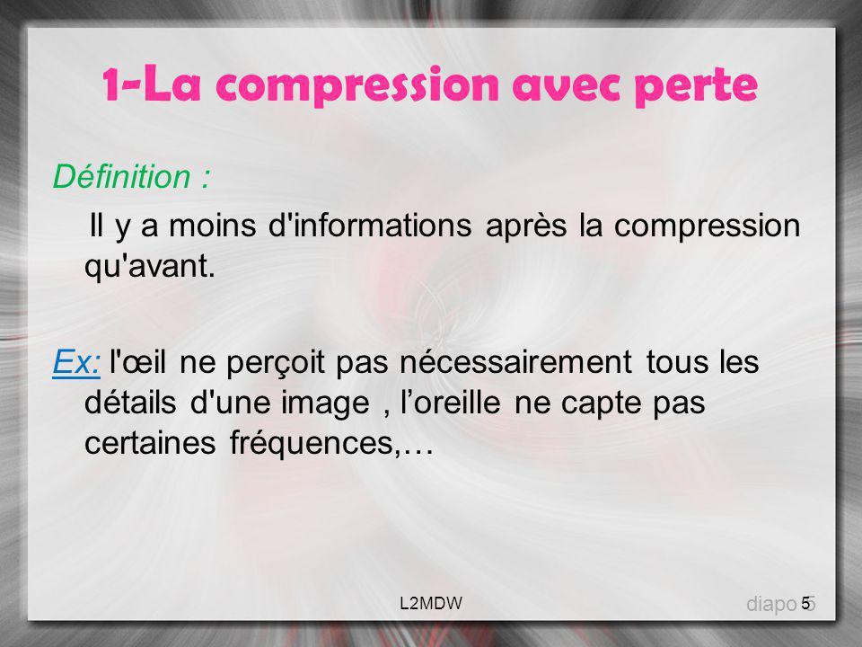 1-La compression avec perte