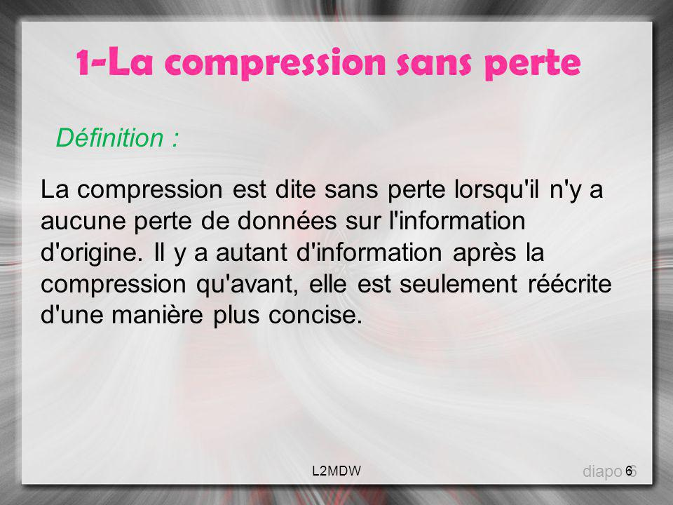 1-La compression sans perte