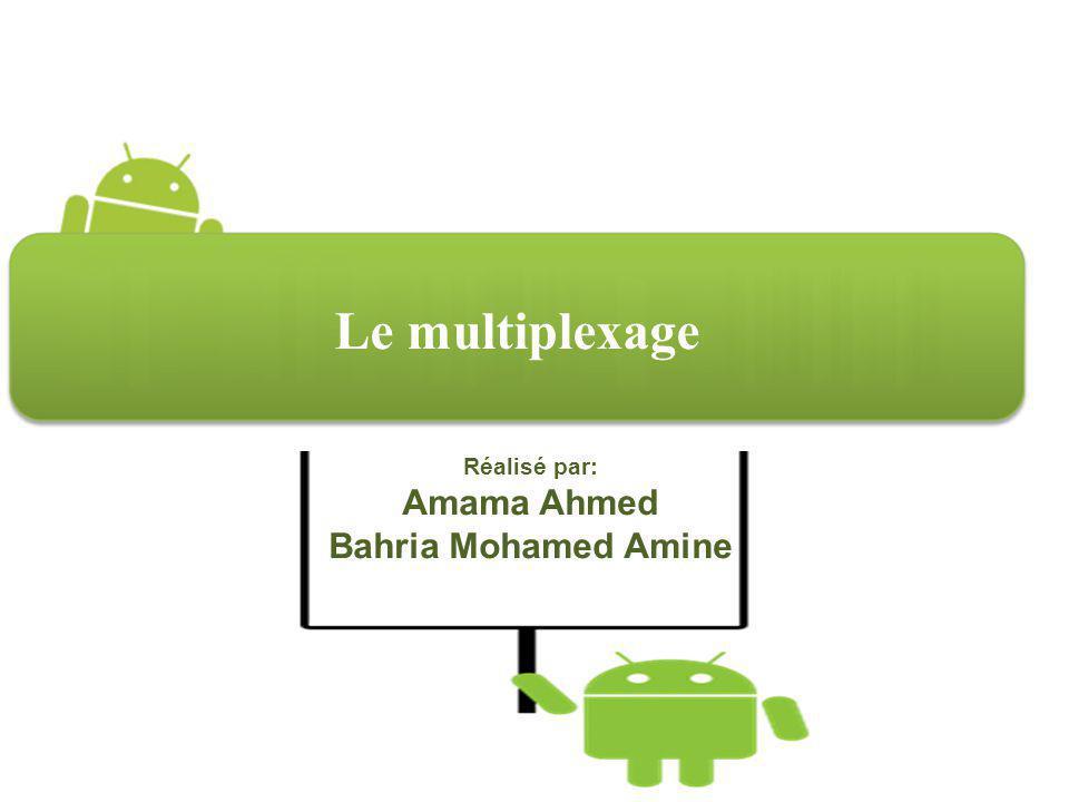 Le multiplexage Réalisé par: Amama Ahmed Bahria Mohamed Amine