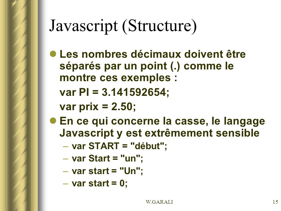 Javascript (Structure)