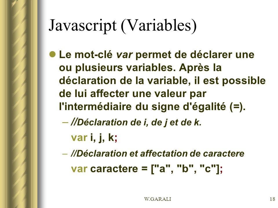 Javascript (Variables)