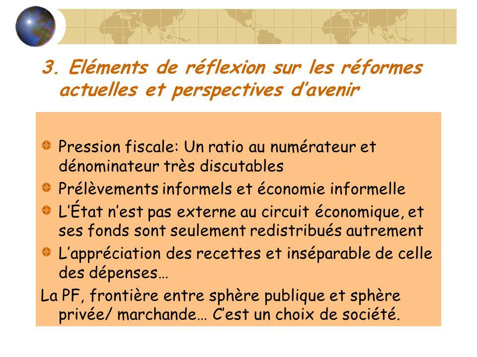 3. Eléments de réflexion sur les réformes actuelles et perspectives d'avenir