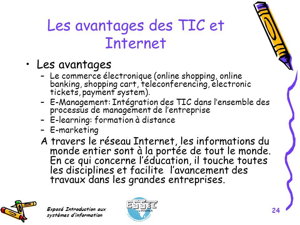 Les avantages des TIC et Internet