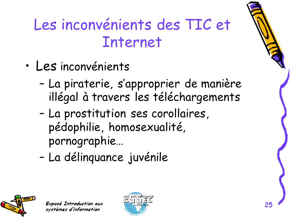 Les inconvénients des TIC et Internet