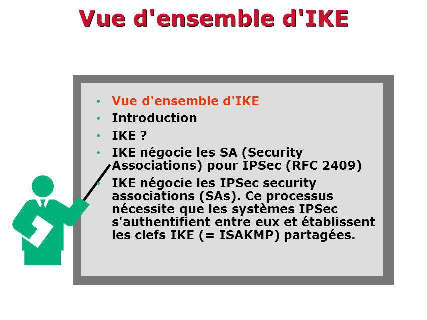 Vue d ensemble d IKE Vue d ensemble d IKE Introduction IKE