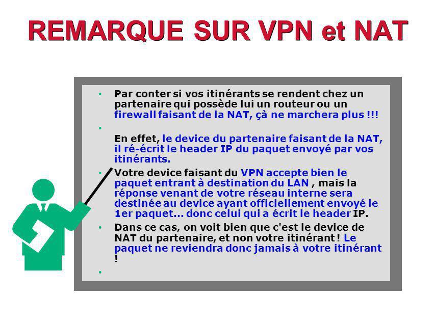REMARQUE SUR VPN et NAT