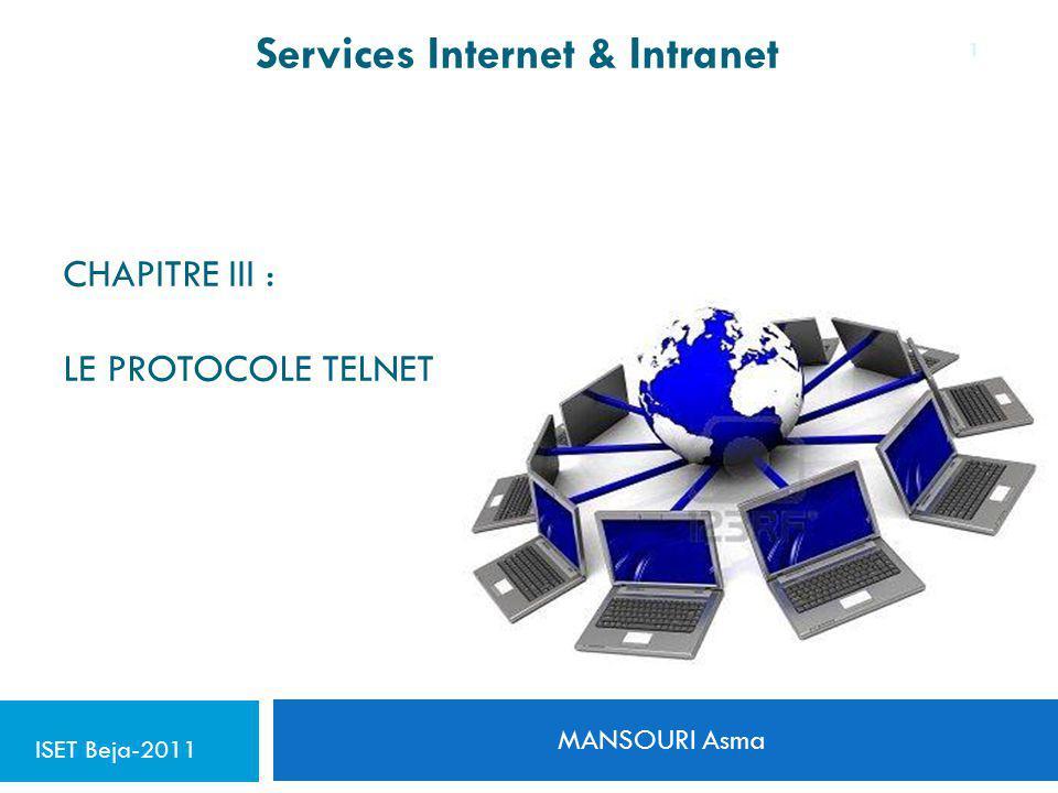Chapitre III : le protocole telnet