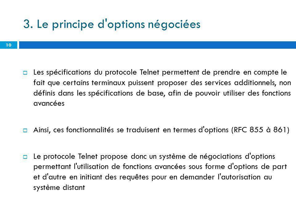 3. Le principe d options négociées