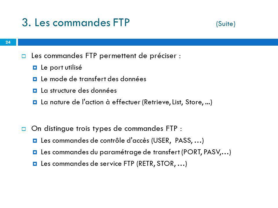 3. Les commandes FTP (Suite)