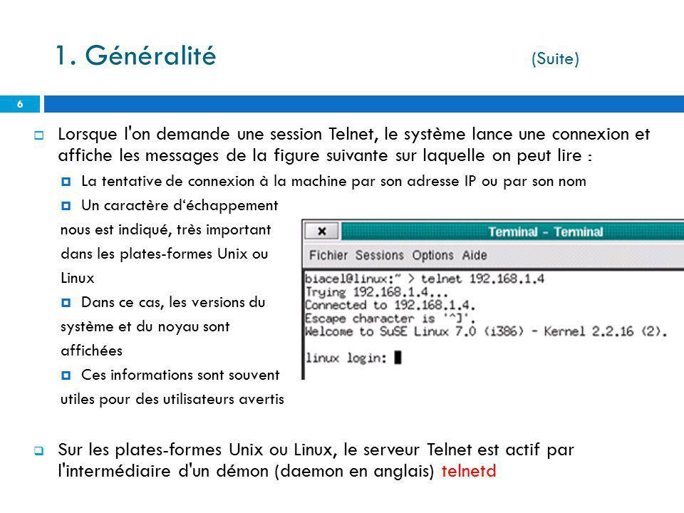 1. Généralité (Suite)