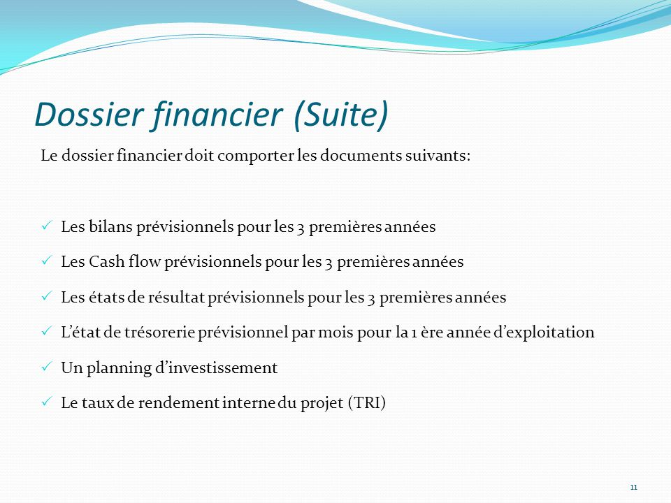 Dossier financier (Suite)