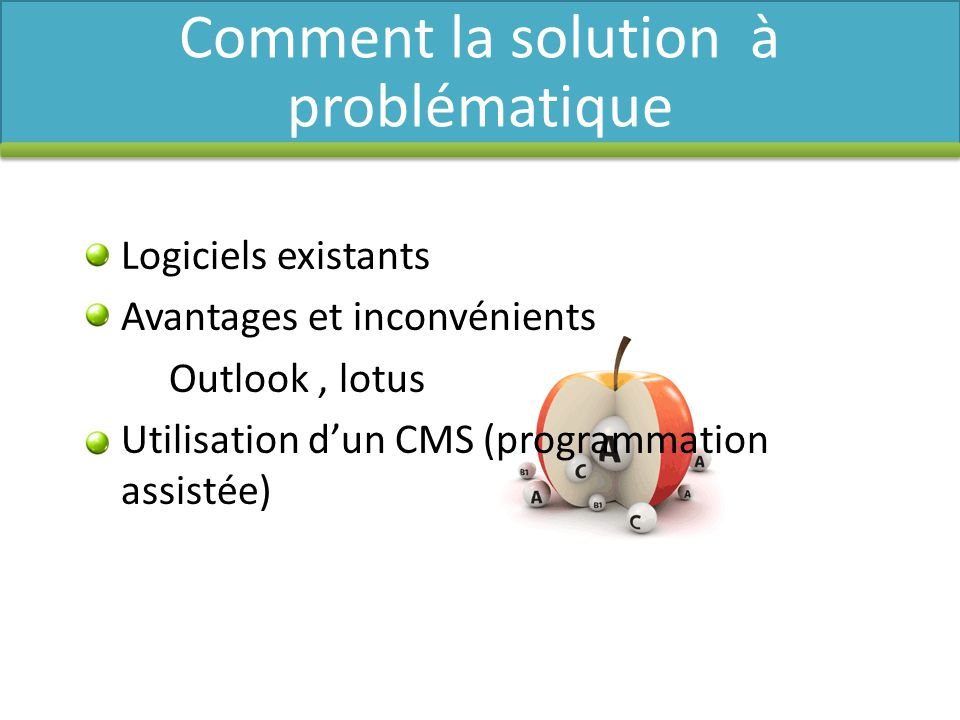 Comment la solution à problématique