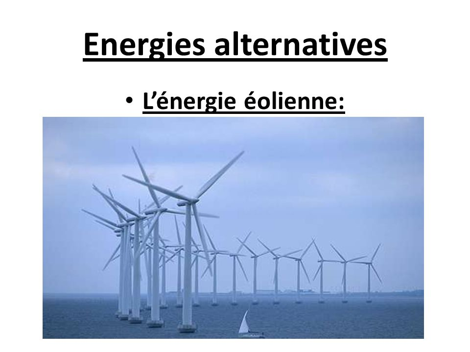 Energies alternatives