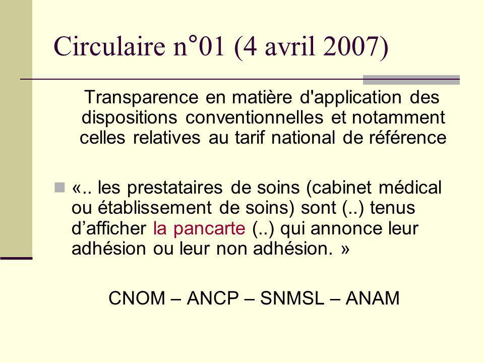 CNOM – ANCP – SNMSL – ANAM