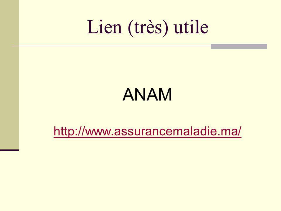 Lien (très) utile ANAM http://www.assurancemaladie.ma/
