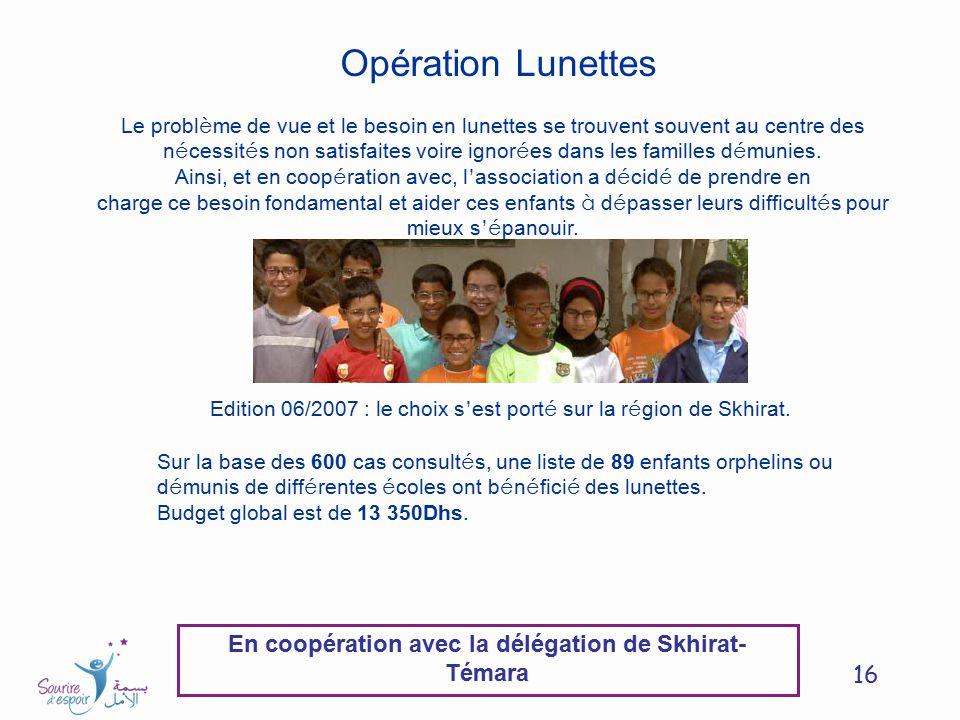 En coopération avec la délégation de Skhirat-Témara