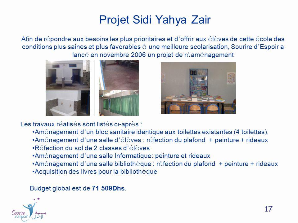 Projet Sidi Yahya Zair