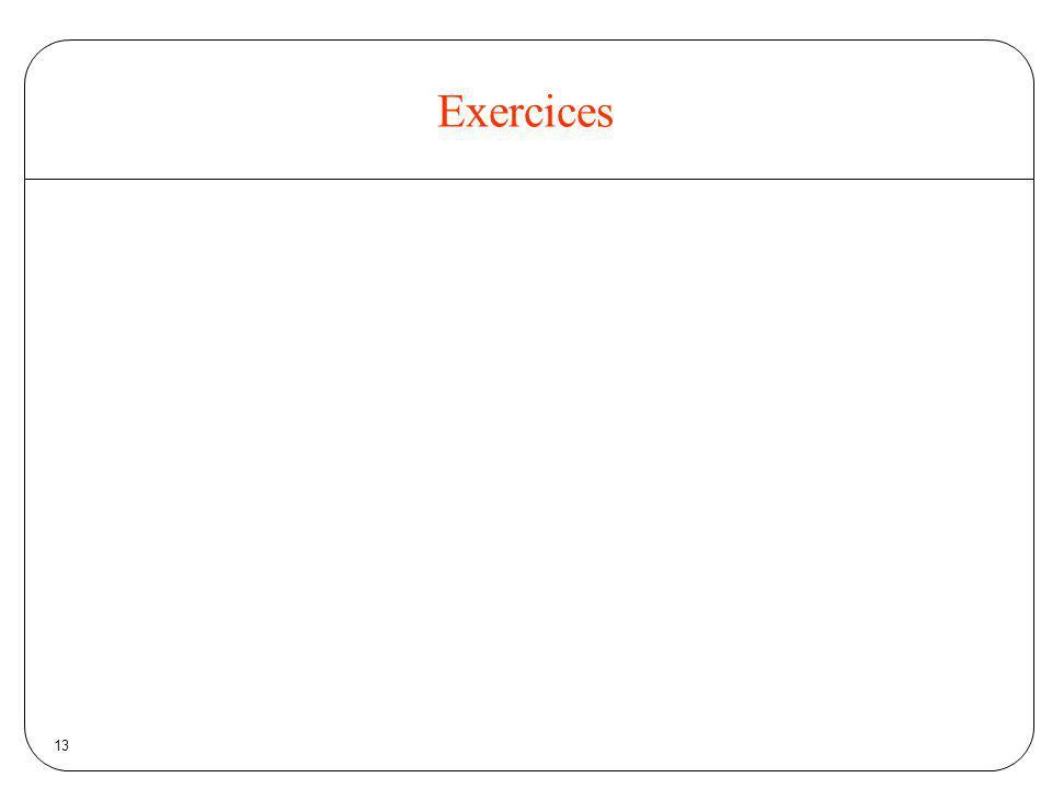 Exercices 13