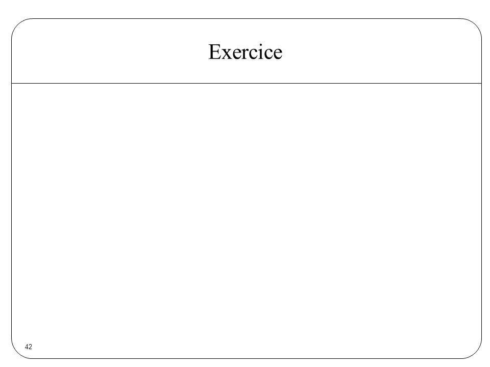 Exercice 42