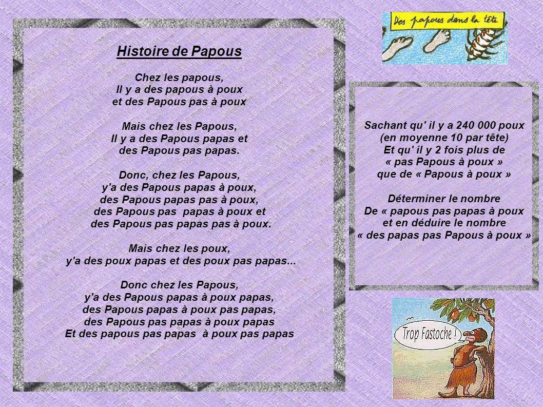 Histoire de Papous Chez les papous, Il y a des papous à poux