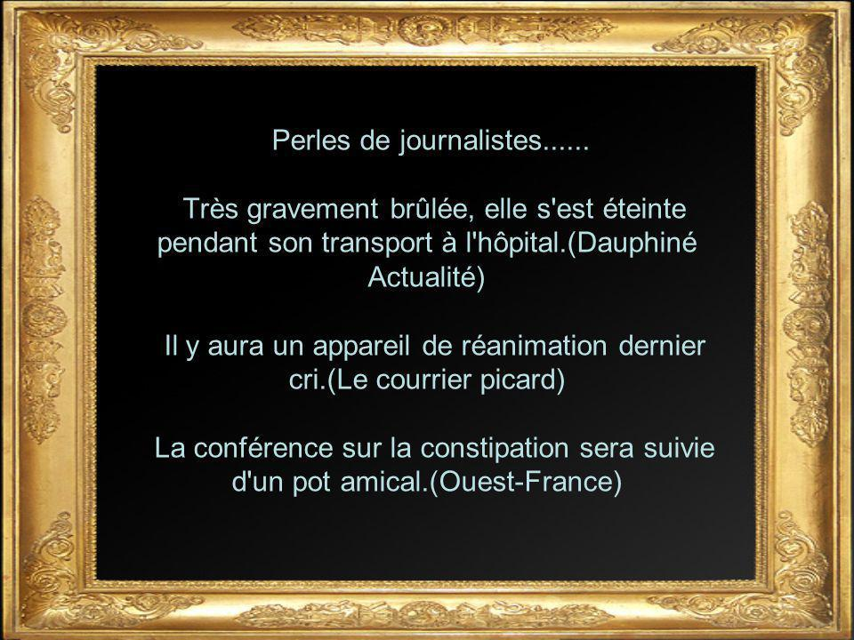 Perles de journalistes