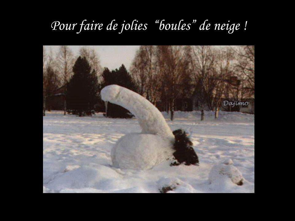 Pour faire de jolies boules de neige !
