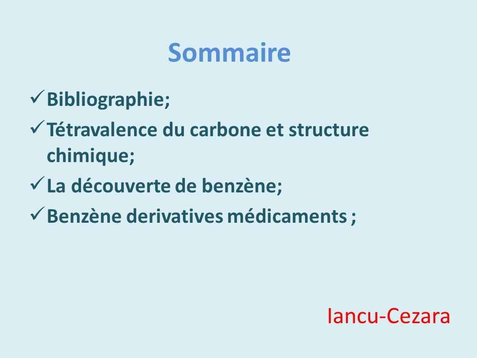 Sommaire Iancu-Cezara Bibliographie;