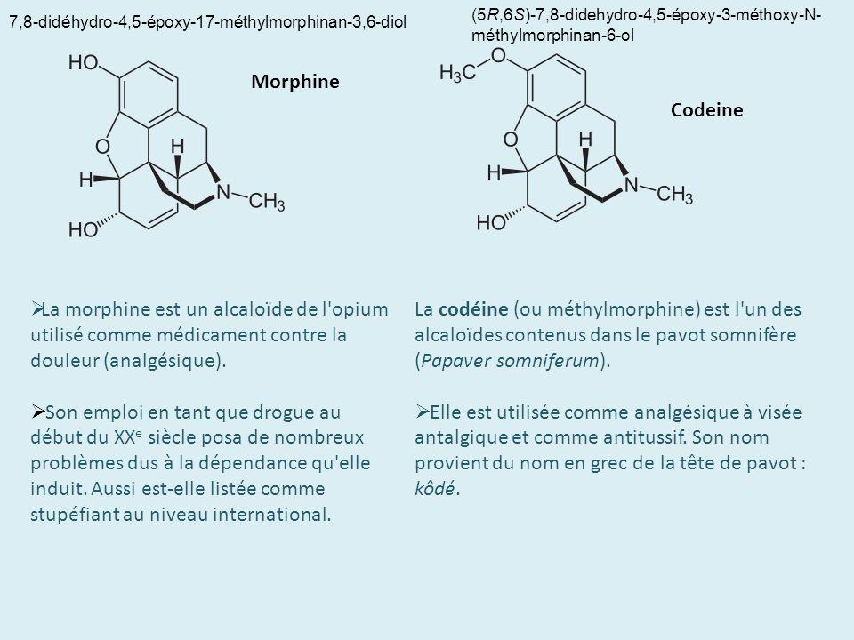 7,8-didéhydro-4,5-époxy-17-méthylmorphinan-3,6-diol