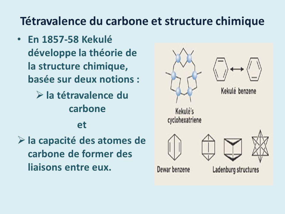 Tétravalence du carbone et structure chimique