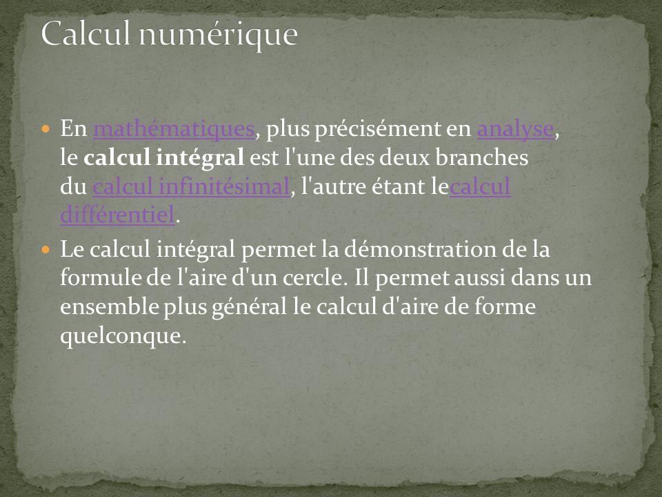 Calcul numérique