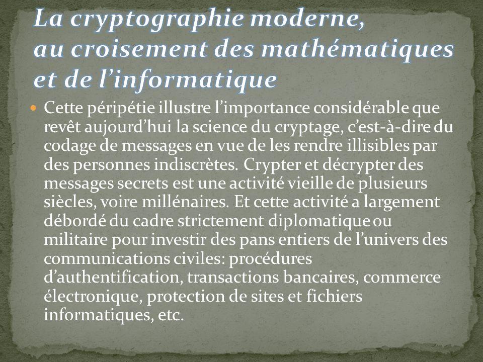 La cryptographie moderne, au croisement des mathématiques et de l'informatique