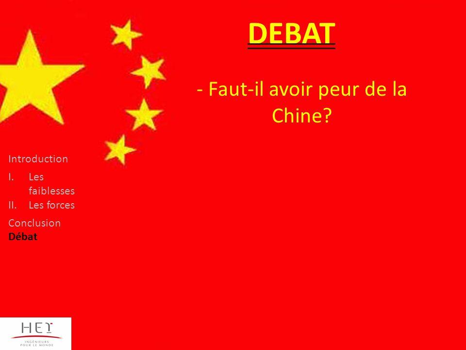 Faut-il avoir peur de la Chine