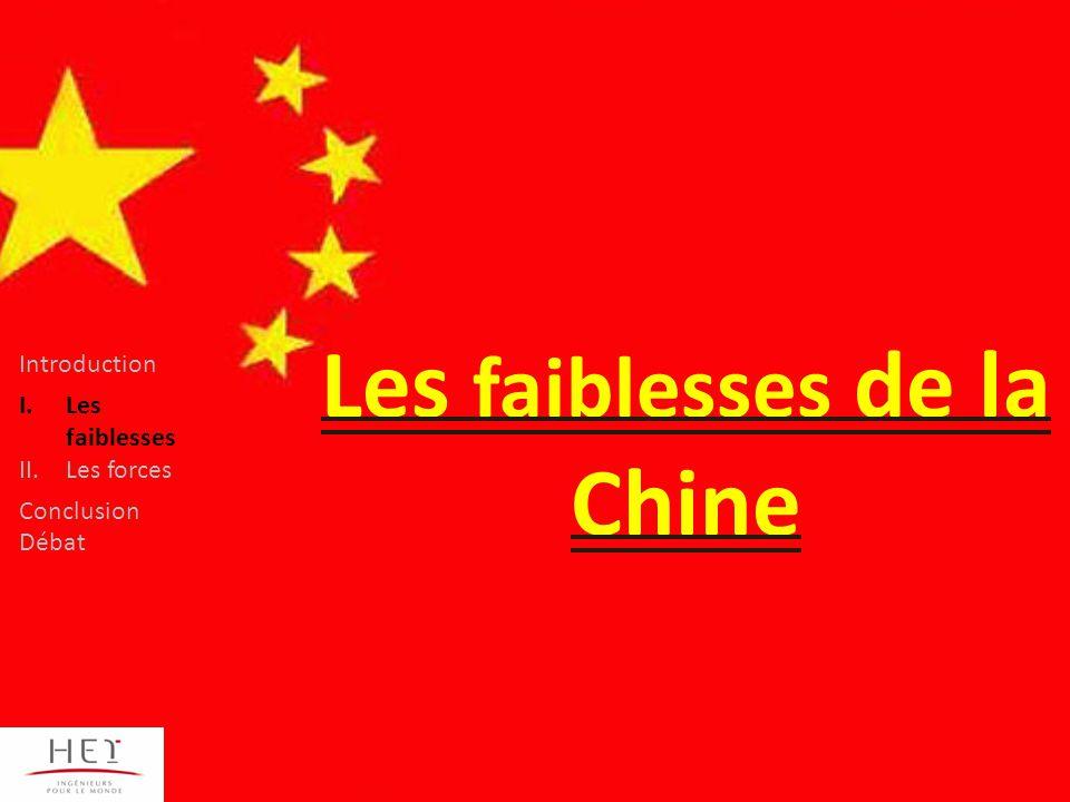 Les faiblesses de la Chine