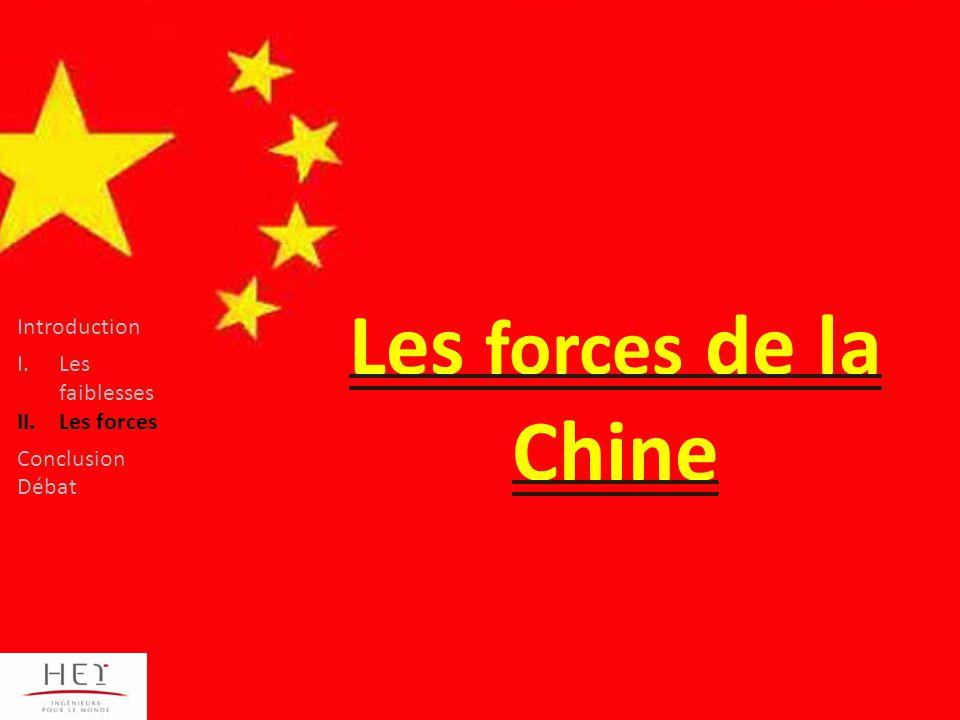 Les forces de la Chine Introduction Les faiblesses Les forces