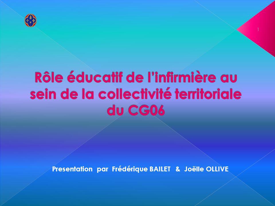 Rôle éducatif de l'infirmière au sein de la collectivité territoriale du CG06