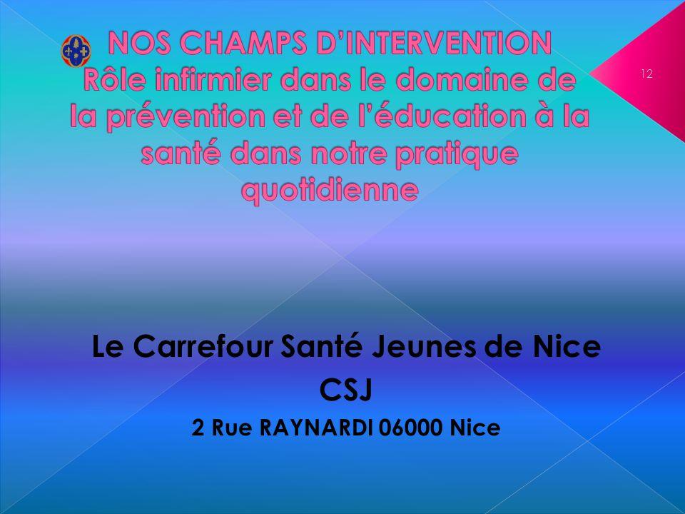 Le Carrefour Santé Jeunes de Nice