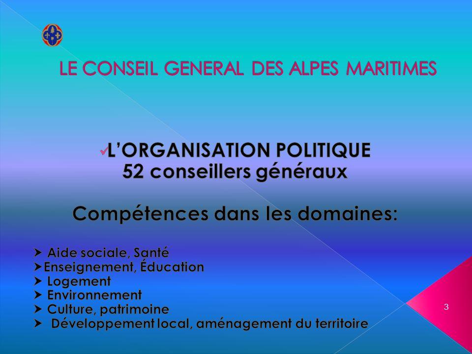LE CONSEIL GENERAL DES ALPES MARITIMES