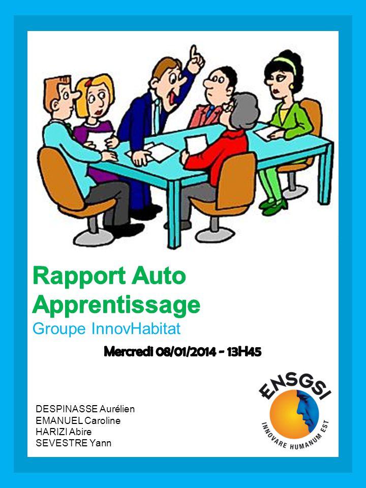 Rapport Auto Apprentissage