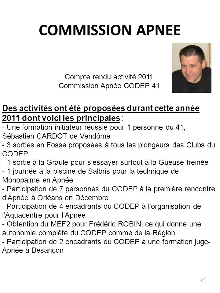 Commission Apnée CODEP 41