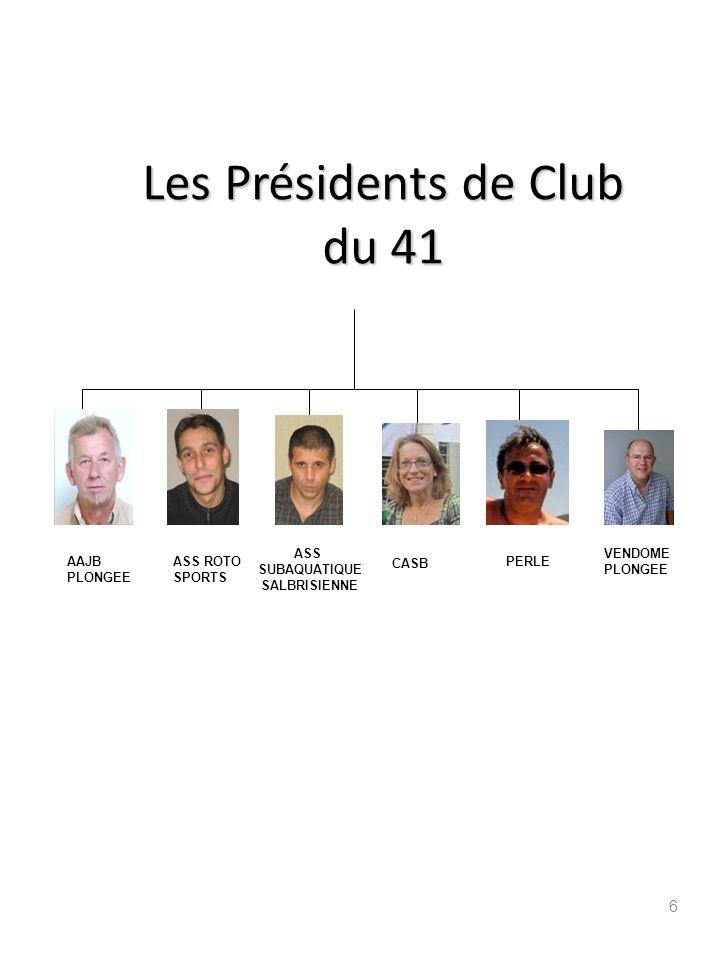 Les Présidents de Club du 41