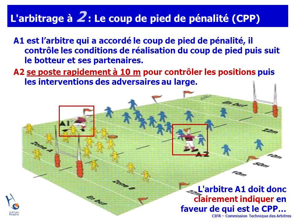 L arbitrage à 2 : Le coup de pied de pénalité (CPP)