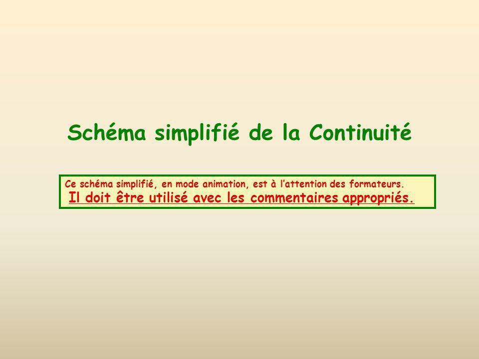 Schéma simplifié de la Continuité