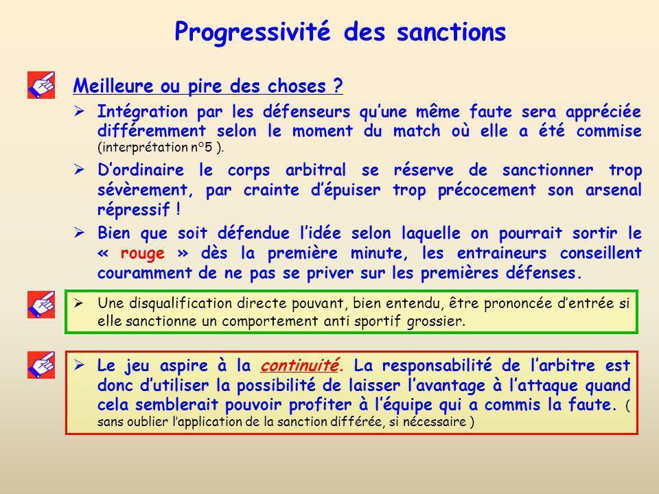 Progressivité des sanctions