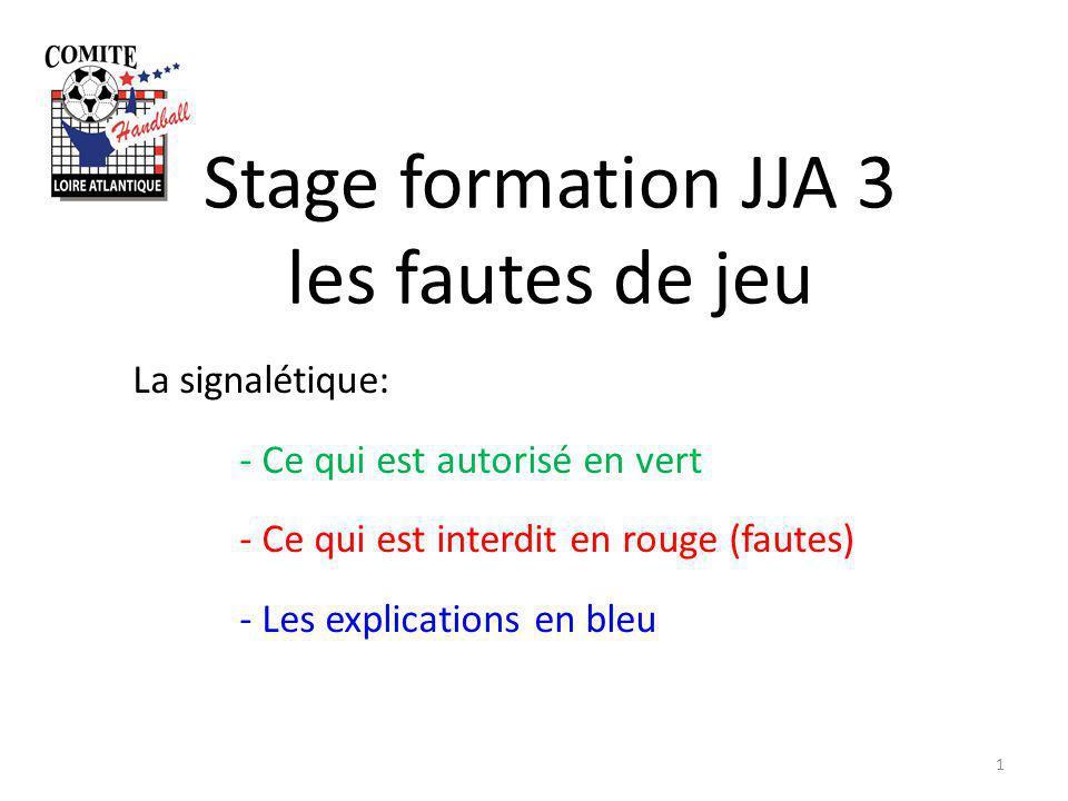 Stage formation JJA 3 les fautes de jeu